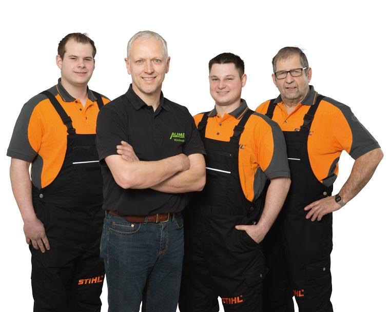 Team von Aumer Land-, Garten- & Forsttechnik